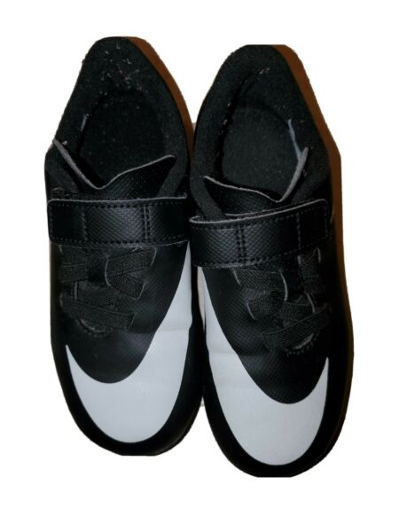 Black White Nike Toddler Soccer Cleats Shoes Size 11C $21.99