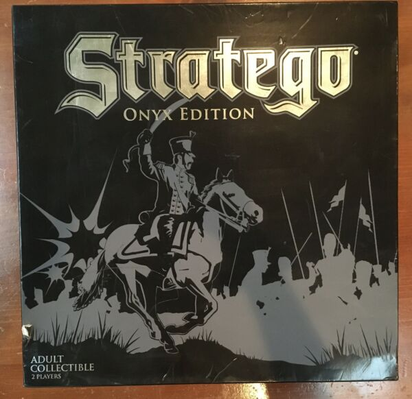 Stratego Onyx Edition 2009 COMPLETE with Directions Hasbro Excellent