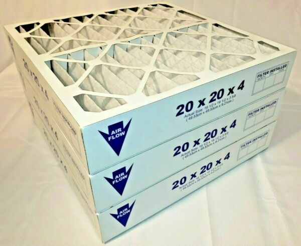 20x20x4 MERV 8 Pleated AC Furnace Air Filters. 3 Pack Actual Depth: 3 3 4quot; $41.50