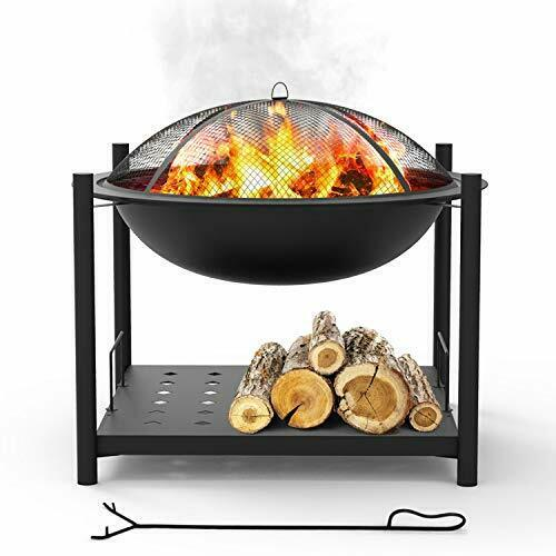 Portable Outdoor Wood Fire 2 in 1 Steel BBQ Grill Cover Log Grate for Camping