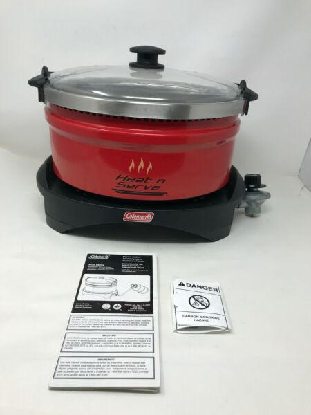 Coleman Heat 'N Serve Portable Red Propane Outdoor Slow Cooker 9935 $64.00