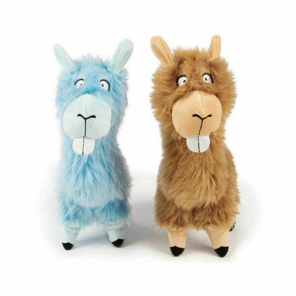 2 Pack Chew Guard Toy Go Dog Blue and Brown LLamas $15.73