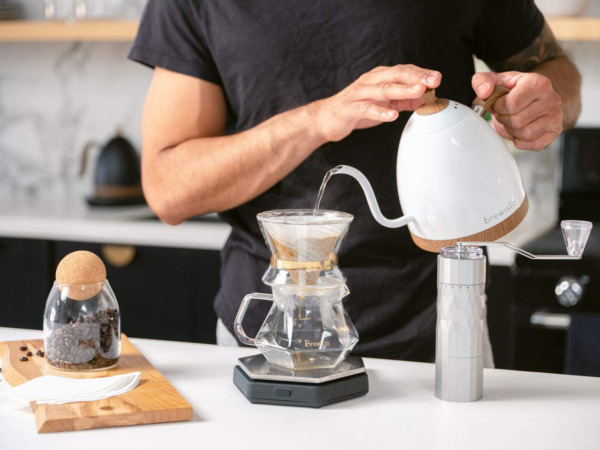 Electric Water Kettle Digital 1 Liter Capacity Goose Neck Pour Over Coffee 110V $187.34