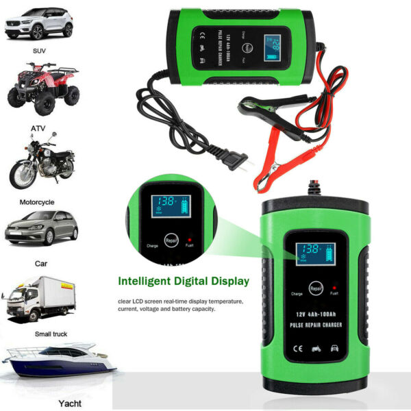 12V 6A Car Battery Charger Auto Jump Starter Power Bank Booster Maintainer C2N6 $18.22