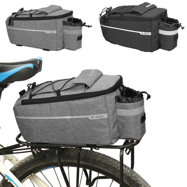 Bicycle Seat Rear Bag Bike Pannier Rack Pack Outdoor Bottle Cycling Storage Bag $27.49