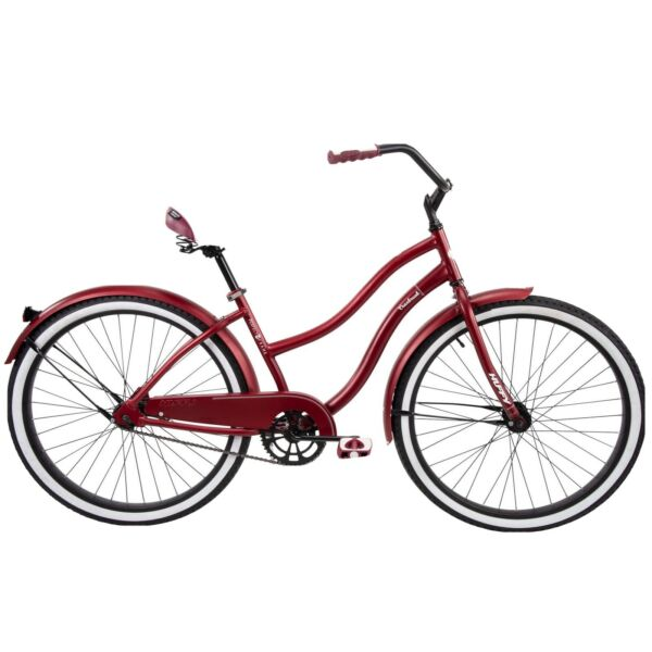 🌹 Huffy 26quot; Cranbrook Women#x27;s City Cruiser Bike Dark Red 🌹 $259.00