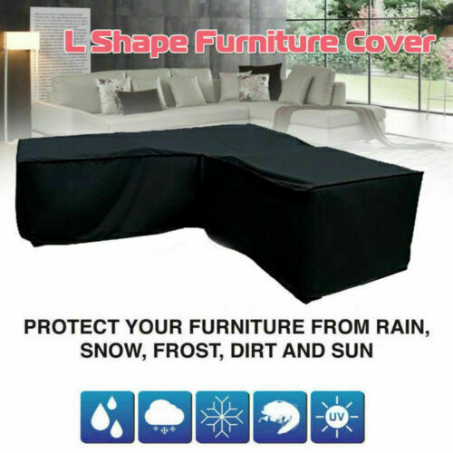 Waterproof Dustproof Patio Furniture Cover Outdoor L Shaped Sectional Sofa Cover