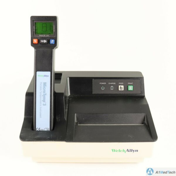 Welch Allyn MicroTymp 3 Tympanometer 23650 with Printer Charger 71170