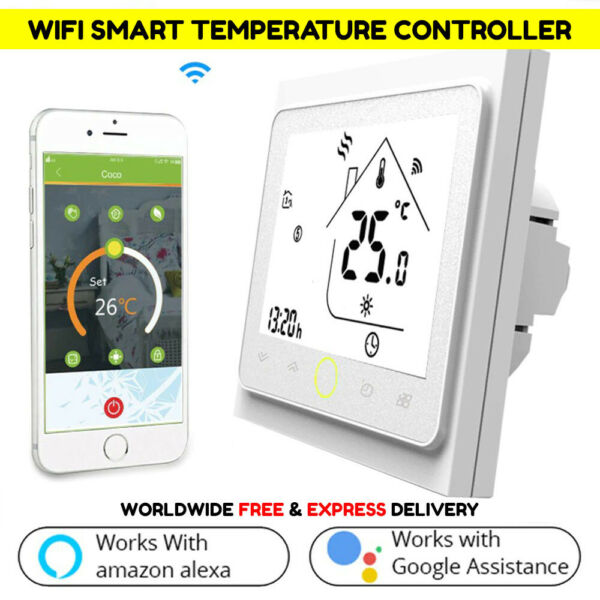WiFi Smart Temperature Controller for Electric Floor Heating Water Gas Boiler $28.49