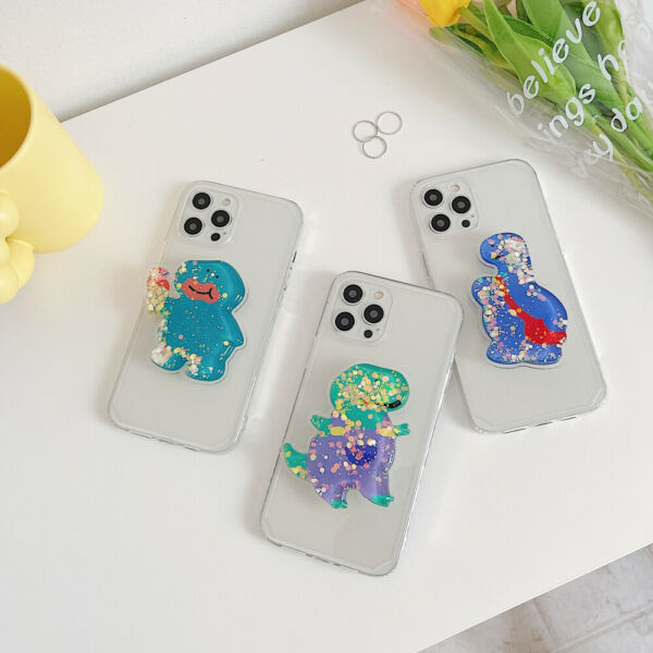 Cartoon Dinosaur DIY Stand Phone Clear Case Cover For iPhone 7 Plus 12 XR X 11 $11.99