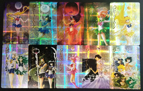 Sailor Moon Fan Made Speckle Prism Gold Foil Card SET of 10 New Manga Covers