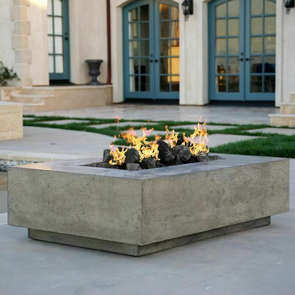Prism Hardscapes Tavola I Gas Fire Table Pewter NG PH 405 4NG 65000 BTUs