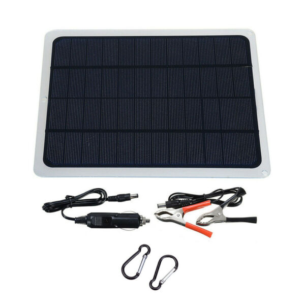 20W Car Solar Panel 12V Trickle Charge Battery Charger Kit Maintainer Boat RV $19.80