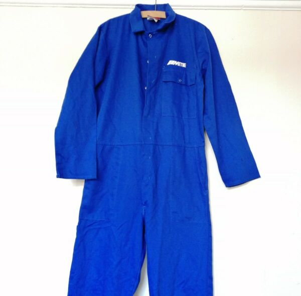 Mitie Indigo Blue Cotton Harpoon Work Wear Chore Jumpsuit Boiler Suit Overalls M GBP 20.00