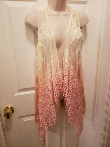 Bke Sheer Lace Ombre Vest Nwot From Buckle Large $30.00