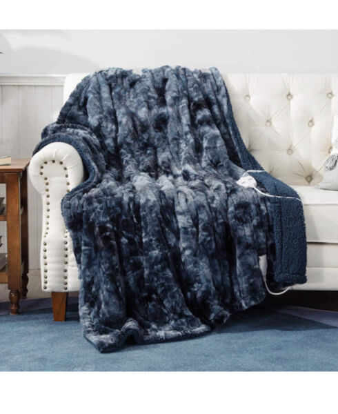 Heated Blanket Throw Electric Bedsure 3 Heat Time Setting New Grey $104.99