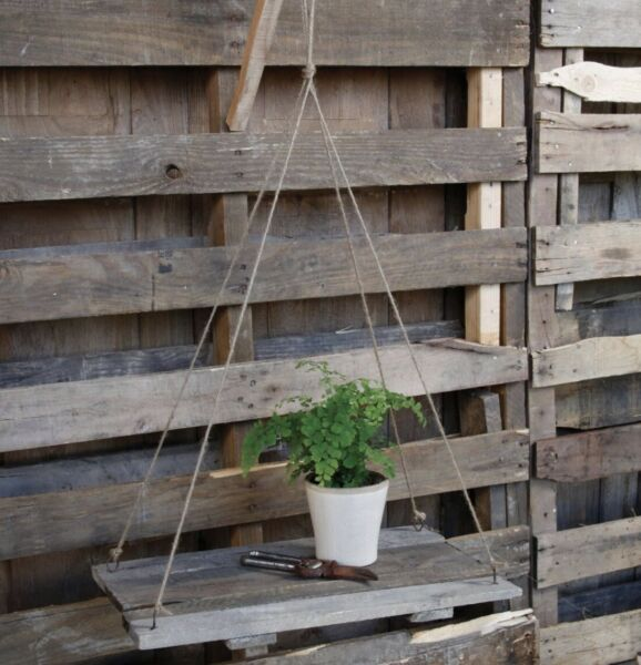 Crate Style Suspended Shelves Rustic Crates With Rope To Suspend
