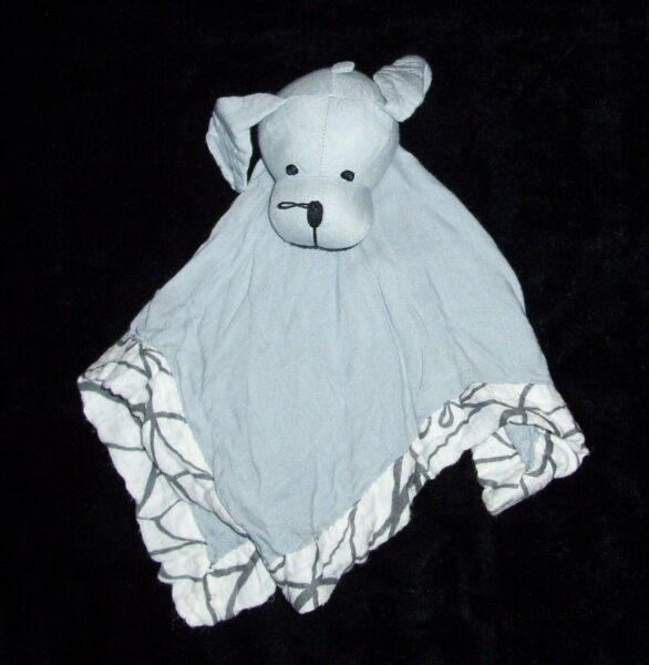 FLAW Aden Anais Puppy Dog Gray Moonlight Musy Mate Grey Security Blanket Lovey $57.19