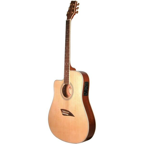 Kona K2LN Left Handed Thin Dreadnought Acoustic Electric Guitar Natural