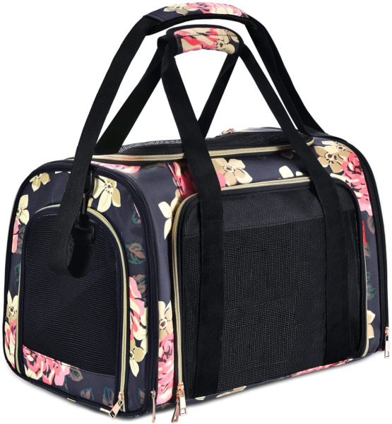Suppets Dog Carrier Airline Approved Cat Carrier Pet Carrier Breathable Mesh Pet $43.99