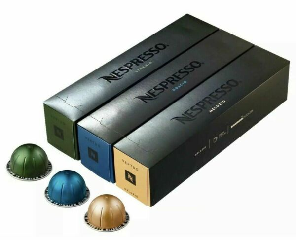 New Sealed Nespresso Vertuoline Assortment Coffee Pods 30 Count Pack of 3