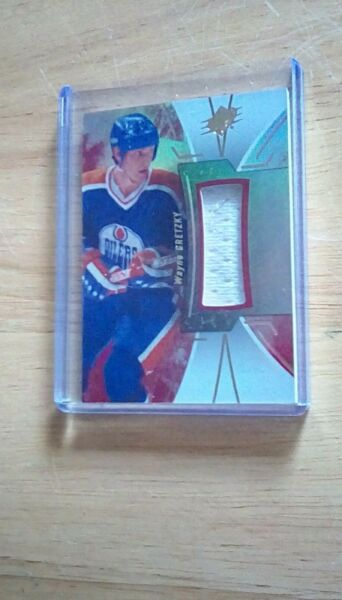 2016 SPx Stars and Legends Red Material Jersey Relic Wayne Gretzky #15 HOF Rare $49.95