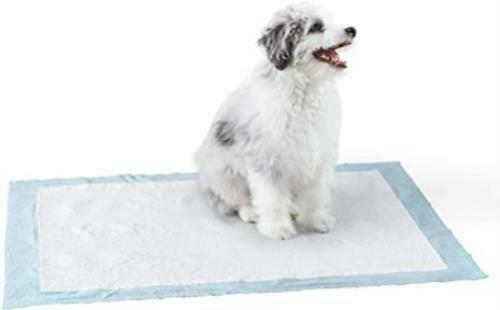 Amazon Basics Dog and Puppy Pee Pads Heavy Duty Absorbency Pack of 50 28 x 34 $21.99