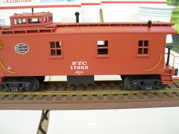 RAILKING 38 58501 NEW YORK CENTRAL WOOD SIDED CABOOSE W ELECTRIC LIGHTSDIE CAST $39.99