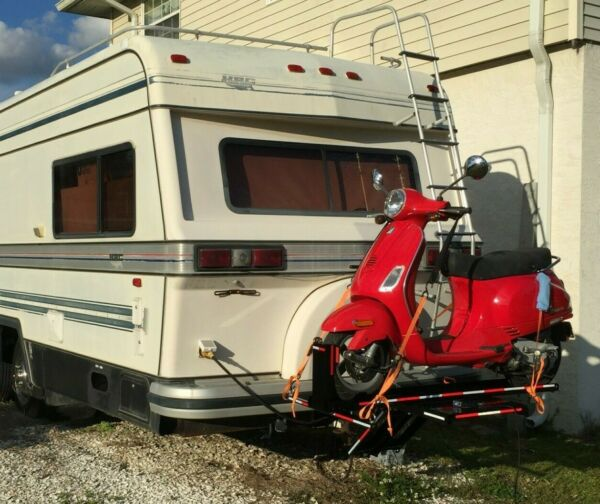 RV motorcycle scooter trailer single hitch carrier 12v winch condor chock $850.00