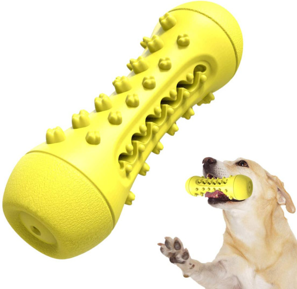 BEANDI Dog Chew Toys for Aggressive Chewers: Squeaky Dog Toys with Natural Rubbe $7.99