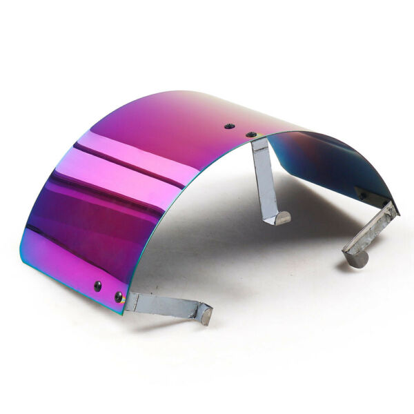 Universal Racing Cold Air Intake Filter Heat Shield Cover 2.5quot; 3.5quot; Neo Chrome $21.09