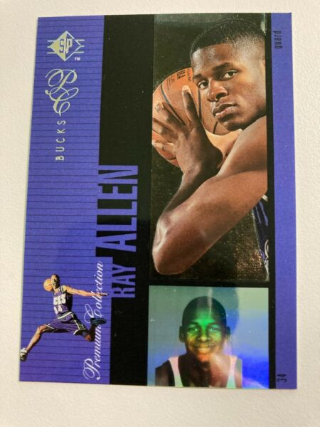 1996 97 UD SP RAY ALLEN PREMIUM COLLECTION HOLOVIEW ROOKIE CARD RC INSERT #PC21 $16.00