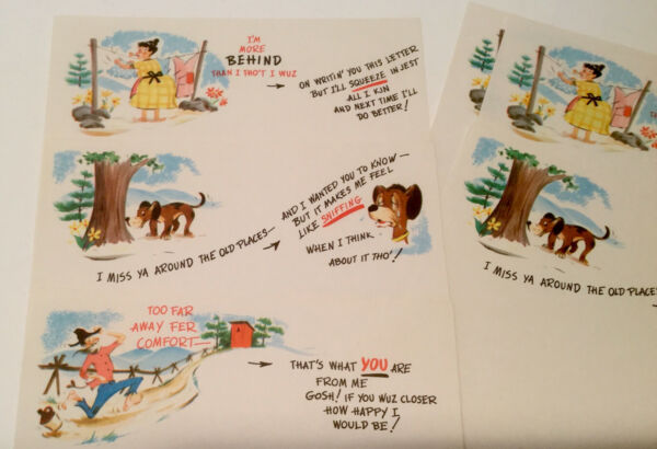 Vintage Deep In The Hills Stationary For Humorous People $10.99