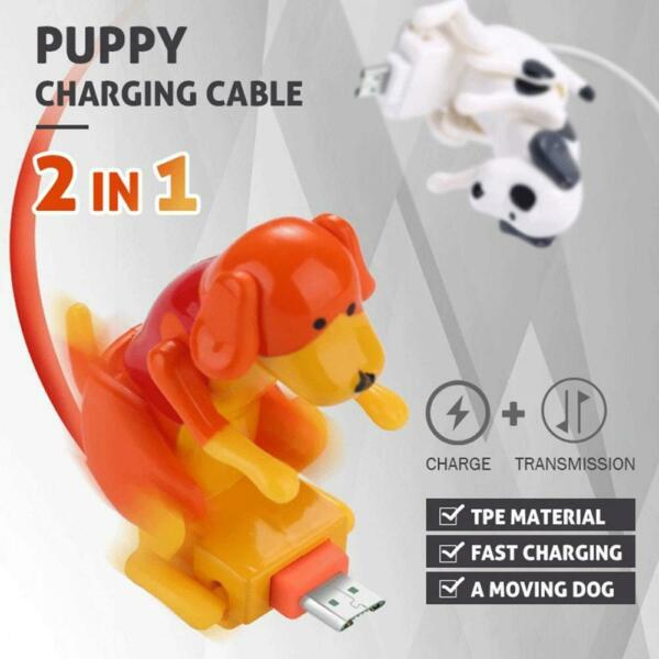 1.2 M Type c Micro USB smartphone Humping Funny Dog Fast charger cable Cute l $9.89