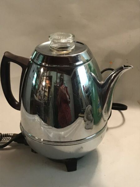 Vintage General Electric GE Automatic Coffee Percolator 13P30 Perks Great