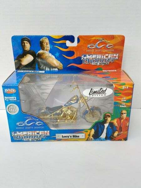 ORANGE COUNTY CHOPPERS LUCY#x27;S BIKE 1:18 SCALE DIECAST Limited Edition Gold $24.99