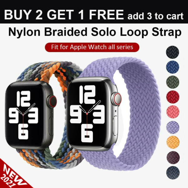 Nylon Braided Solo Loop for Apple Watch Strap Band iWatch Series 6 SE 5 4 3 2 1 $6.88