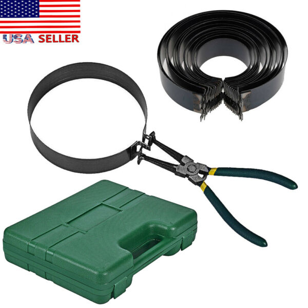 Motorcycle Piston Ring Compressor Cylinder Installer Tool Kit with Plieramp;14 Band $24.00