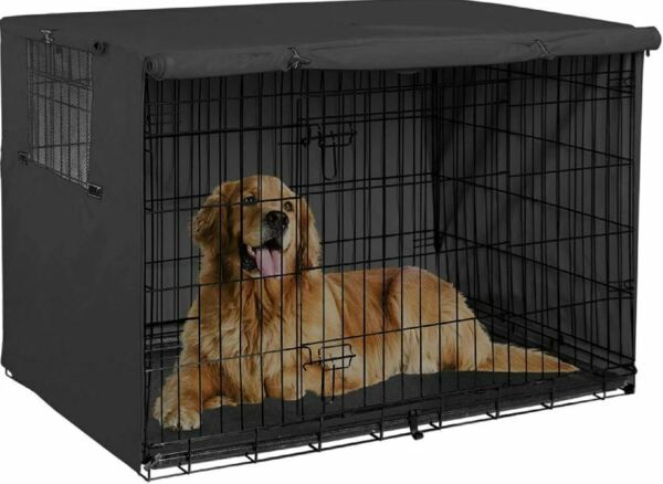48quot; Extra Large Giant Breed Dog Crate Kennel XL Pet Wire Cage Huge Folding Cover $50.35