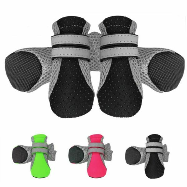 Pet Dog Boots Waterproof Anti Slip Paw Protector Dog Shoes Adjustable Strap Sole $9.71
