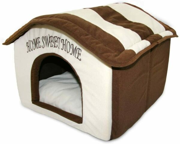 Indoor Dog House Bed Pet Soft Warm Fleece Cushion Pad Washable Cat Cozy Home $37.49