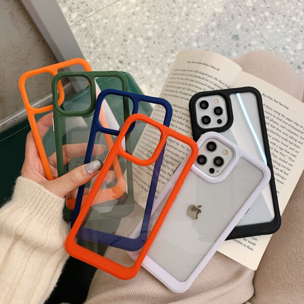 Clear Phone Case For iPhone 13 12 Pro Max 11 XS X XR 87 Shockproof Bumper Cover