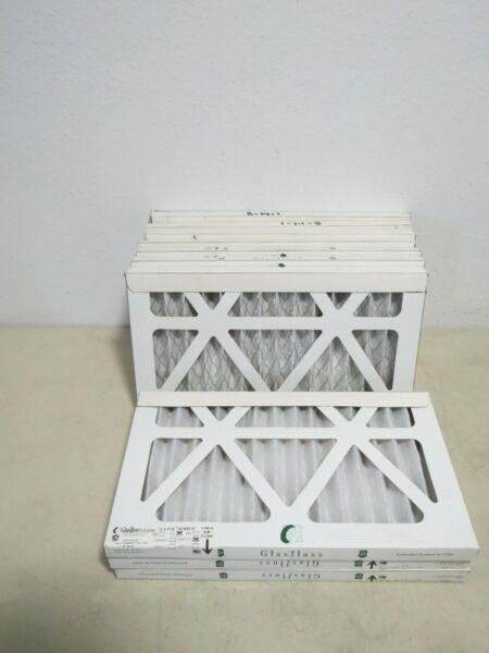 GLASSFLOSS 8 x 14 x 1 PLEATED A C FURNACE 11 FILTERS OVEN FILTERS $79.98