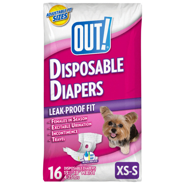 OUT Pet Care Disposable Female Dog Diapers Absorbent with Leak Proof Fit Mo $10.59
