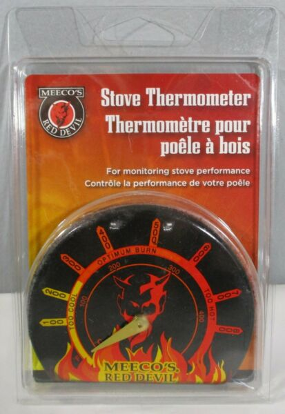New Meeco#x27;s Red Devil Stove Thermometer Chimney Pipe Wood Coal Pellet Steel USA $14.96