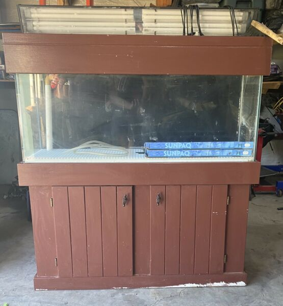 Lot of 2 Saltwater Aquariums gear 55 gal with custom stand amp; 125 gal no stand $350.00