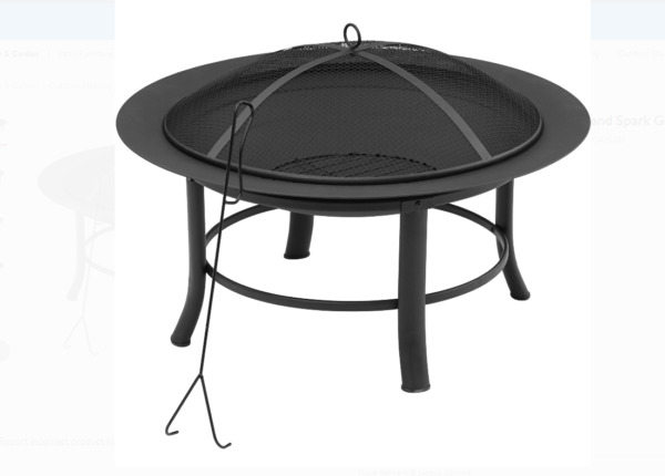New 28quot; Fire Pit with PVC Cover and Spark Guard Outdoor Heat Basket Mesh $43.99