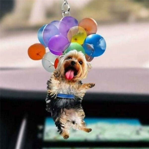 Cute Cat Dog Car Hanging Ornament Rear View Mirror Styling Interior Car Decors $6.93