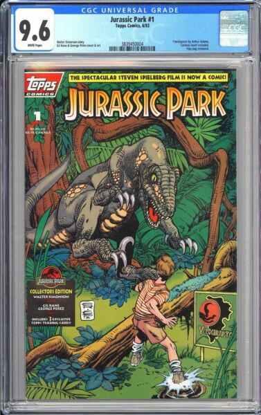 Jurassic Park #1 Topps Comics CGC 9.6 WP 3839450004 Collector#x27;s Edition $129.99