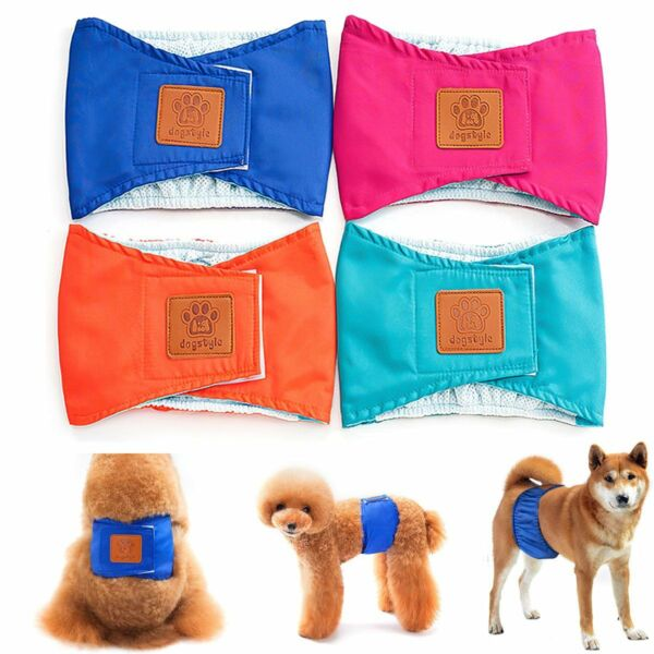 1 3 Packs Leak Proof Reusable Male Dog Diapers Belly Band Wrap Washable S M L XL $11.18